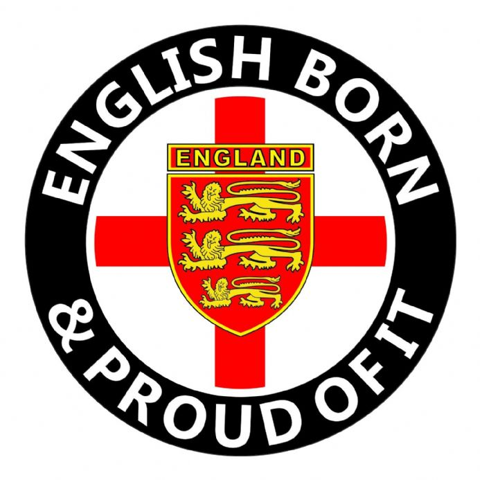England Car Sticker - English Born and Proud of It